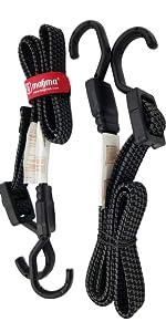 Vlak bungee bungy riemen klein koord koorden met haken elastisch strap kabels touwen
