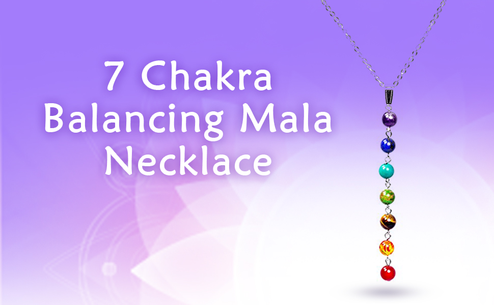 Seven Chakra Pendant Wire Wrapped Gemstone Pendant Balance Chakra Necklace Filled Meditation Necklace Yoga Necklace Reiki Spiritual Necklace
