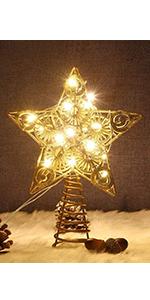 Star Christmas Tree Topper, Golden