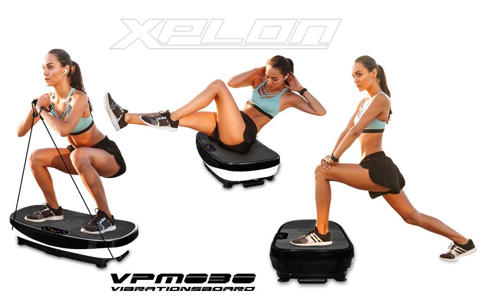 3D Fitness Vibrationsplatte Vibro Platte Vibrationsgerät Vibrationstrainer Rot