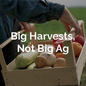Big Harvests, Not Big Ag
