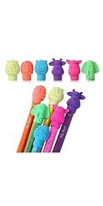 Mr. Pen- Erasers, Cap Erasers, 60 Pack, Animal Eraser Caps, Erasers for Kids