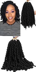 Spring Twist Ombre Colors Crochet Braids 8 inch Synthetic Braiding Hair Extensions