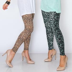 Eevee Womens Basic Comfort Stretch Soft Print Christmas Holiday Season Leggings