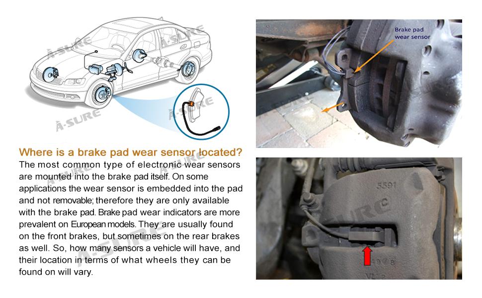 OEM Rear Brake Pad Wear Sensor For BMW 1 Coupe//Convertible E81 E90 E91 E92 E93