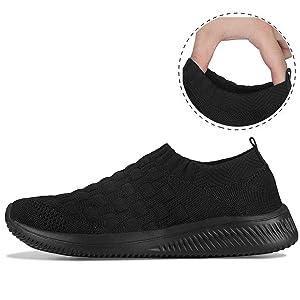 DKRUCAK Womens Walking Shoes Non Slip Lightweight Slip on Comfortable Casual Sneakers