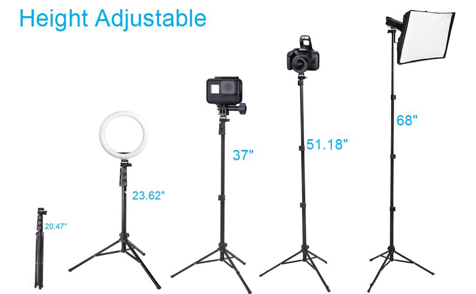 height adjustable light stand