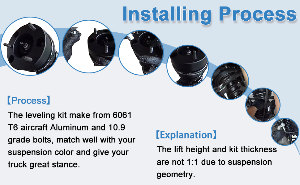 ECCPP 2.5 inch Leveling Kit Raise your vehicle 2.5 Front Leveling lift kit for 2007 2008 2009 2010 2011 2012 2013 2014 2015 2016 2017 Chevy Silverado 1500 GMC Sierra 1500 BHBS0405A1453