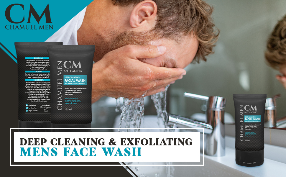 premium face wash, mens face wash, mens skincare