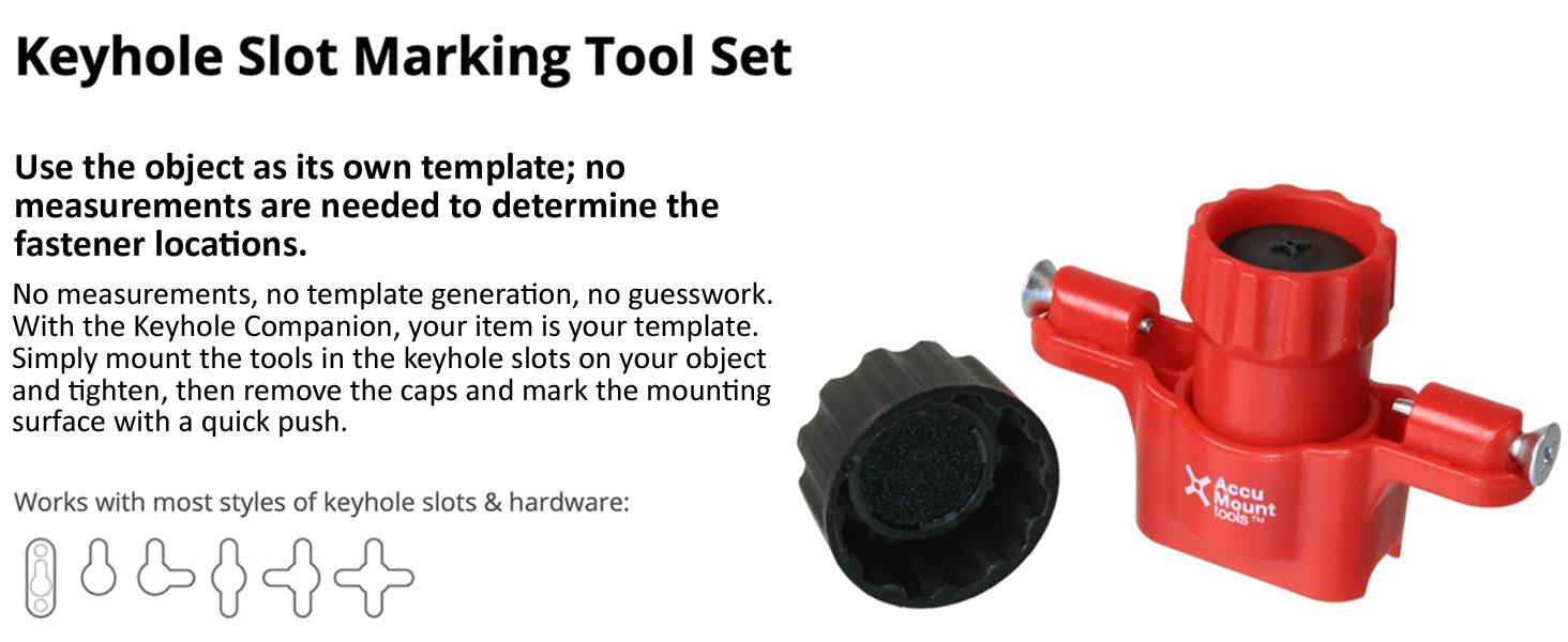 Keyhole Slot Marking Tool Set