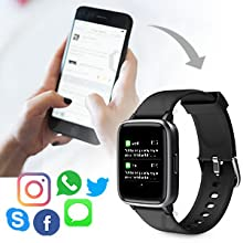 Glymnis Smart Watch Fitness Tracker IP 68 Waterproof Fitness Watch Activity Tracker with 1.3