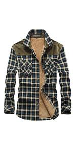 Button Down Fleece Flannel Shirt Jacket