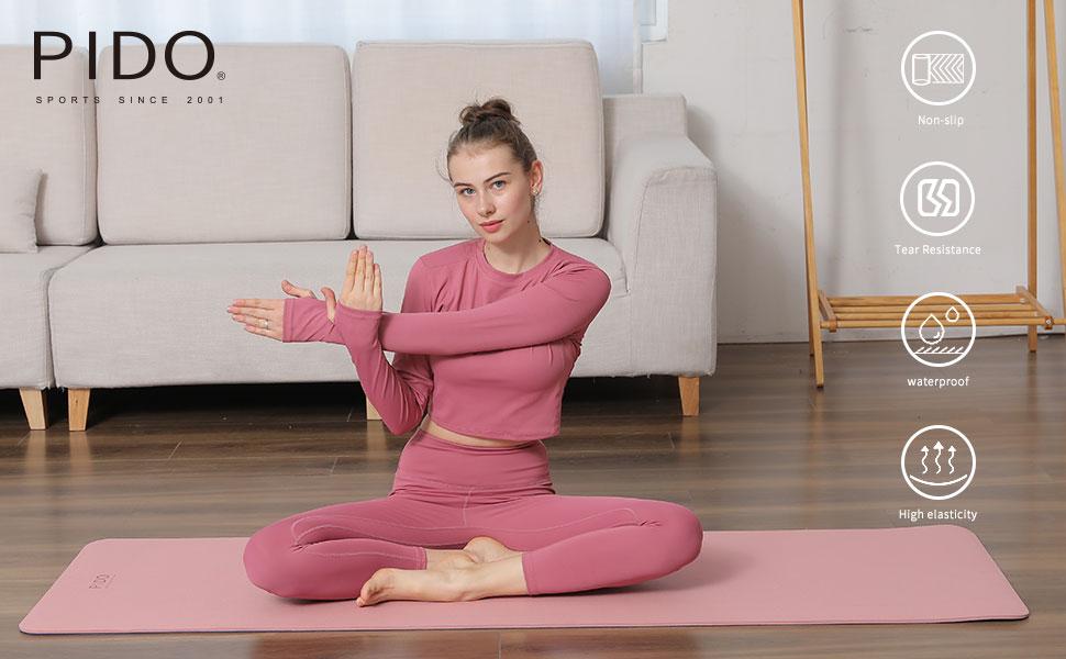 PIDO yoga mat tpe yoga mat thick non slip