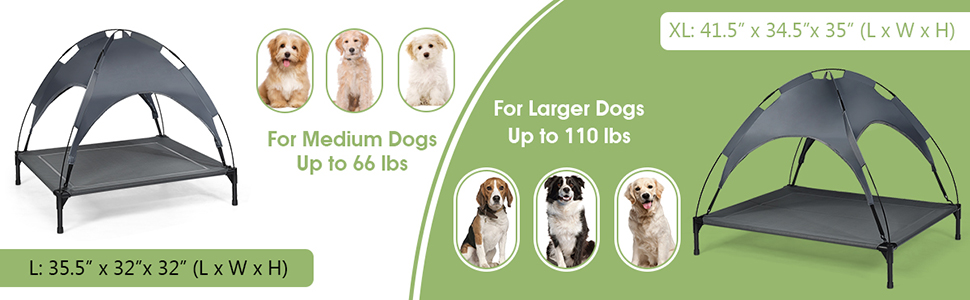 two sizes pet bed can be chosen