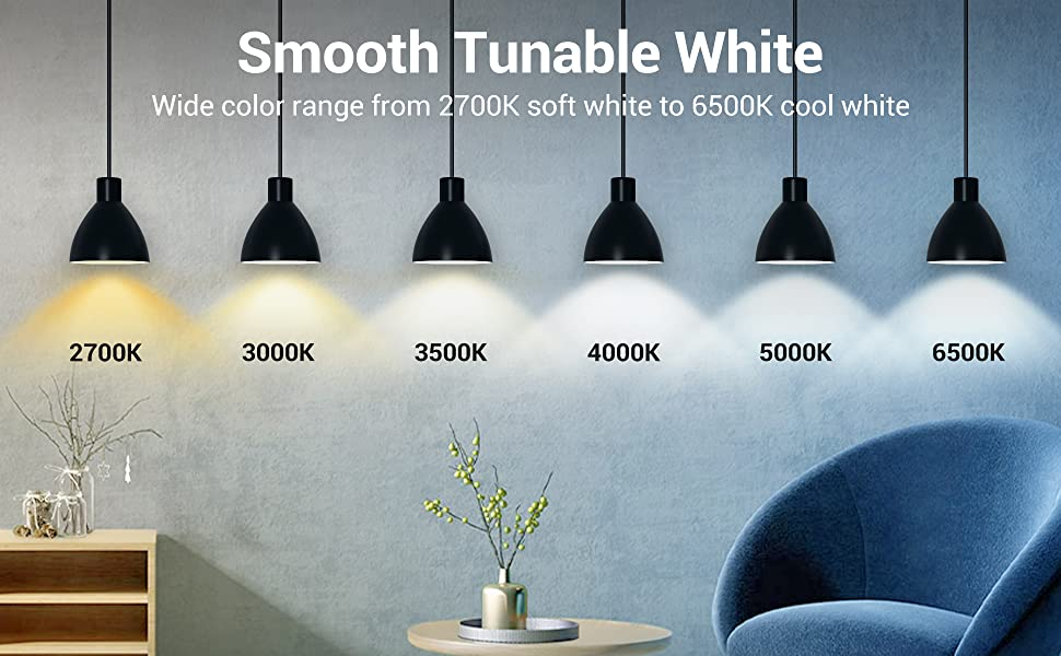smart white bulb dimmable white