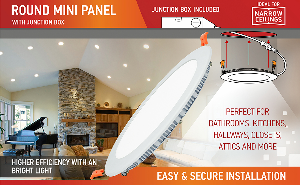 round mini panel junction box included ideal for narrow ceilings
