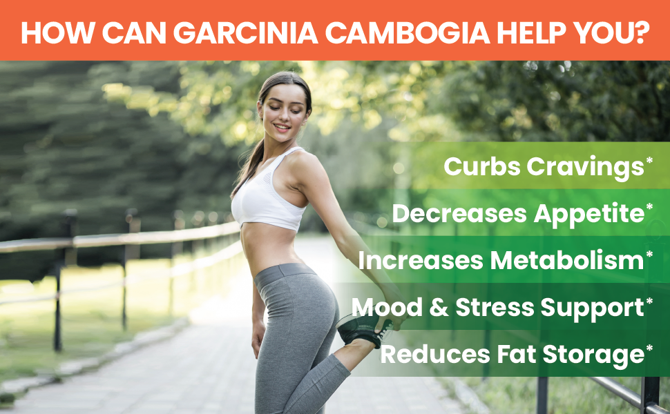 garcina gamboga Curb Cravings Metabolism Mood Stress Support Reduce Fat Supplement Extra Strength