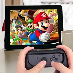 Lammcou Mandos para Switch Empuñaduras Controlador de Joy-con para Mario Kart,Super Mario Odyssey, Just Dance 2019, FIFA 19 Handle Kits para Juegos NS Switch Pokemon (Negro) 2-Pack, Black: Amazon.es: Electrónica