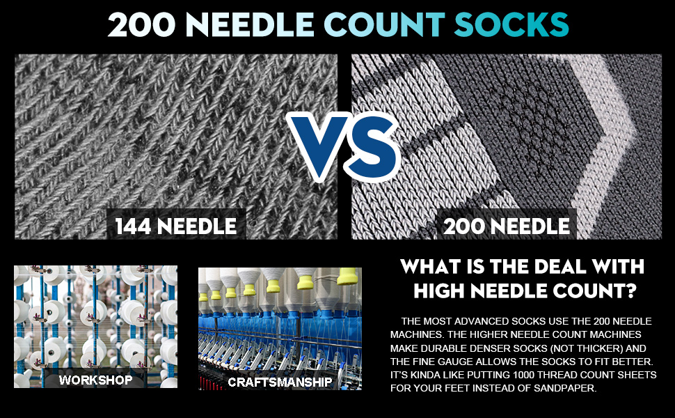 200 NEEDLE SOCKS