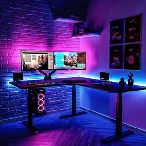 computer desk lighting