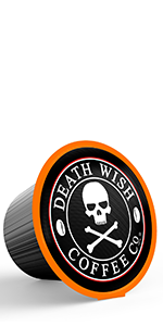 Death Wish's single serve capsule pods is the world's strongest coffee, perfect for caffeine lovers