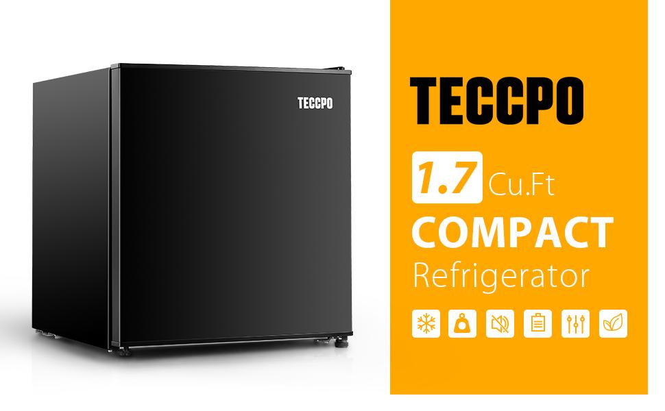 Compact refrigerator, Mini fridge, Quiet, Energy-saving, bedroom, Dorm Office,RV, small