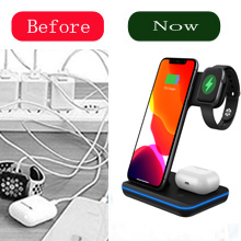 Still enduring a messy desktop?  Any Warphone 3 in 1 Wireless Charging Stand for Latest Airpods iPhone and iWatch, Compatible for iPhone 11 Pro Max/X/XS Max/8 Apple Watch Charger 5/4/ 3/2 /1 Airpods 2/3 d3a3ac4b 89c4 4a16 b7bf 33a25b96d8cb