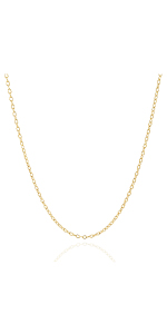 Jewelry Atelier Gold Filled Cable/Pendant Link Chain Necklace