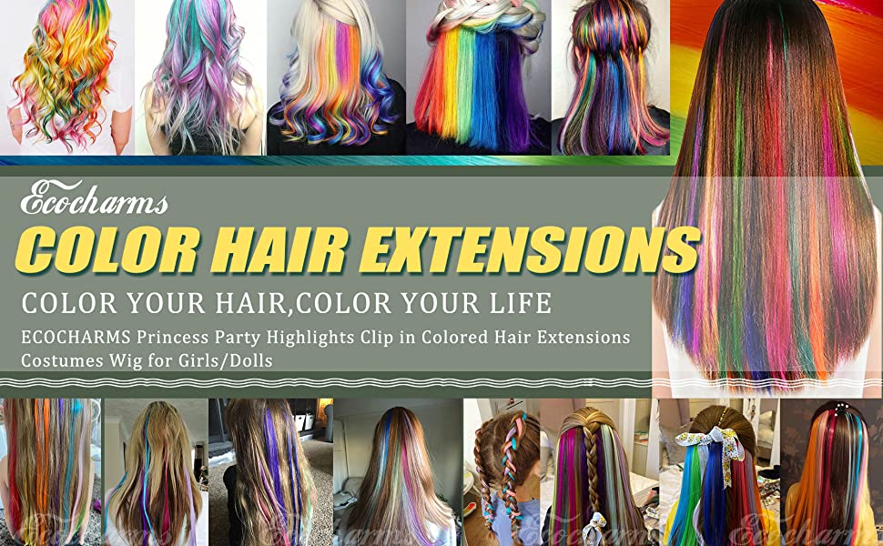 color hair extensions
