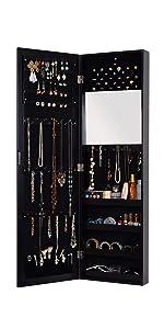 black jewelry cabinet