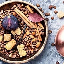 tea, coffee, spices, herbs