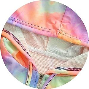 Zipper Hooded Cardigan Tie Dye Tops S-XXL