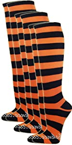 Knee high Halloween 80s Retro Style costume cosplay refree striped knee highs socks
