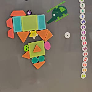 ButterflyFields Magnetic Shapes Toys for kids 2 3 4 years old Boys Girls Toy Gift Play Made in India
