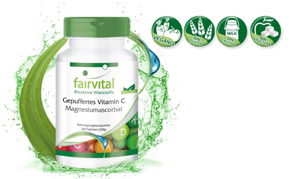 Vitamina C comprimidos - Ascorbato de Magnesio - VEGANO ...