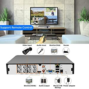 "5MP Wired Security Camera System Built-in 10"" Screen"