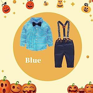 Baby Boy Outfits Set, 3pcs Long Sleeves Gentleman Jumpsuit & Vest Coat & Berets Hat with Bow Tie