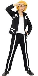 C-ZOFEK Devilman Crybaby Cosplay Hoodie Mens Long Jacket