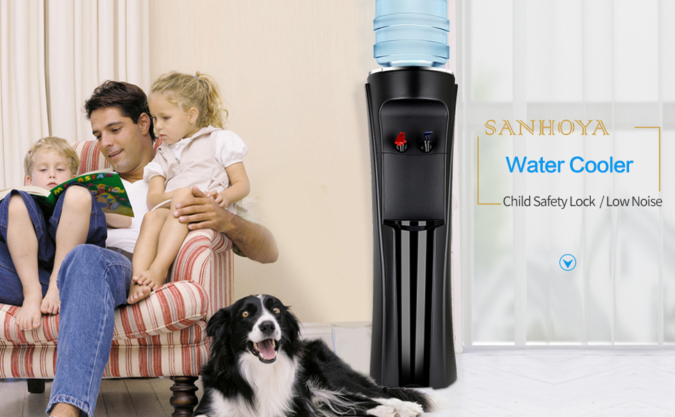 Top Loading Water Cooler Dispenser, Hot amp; Cold Freestanding Water Cooler,Perfect for Home Offi