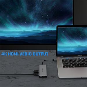 concentrador usb c 4K HDMI