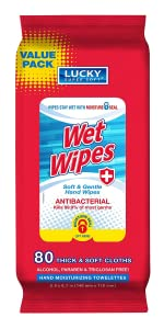 Antibacterial wet wipes alcohol free