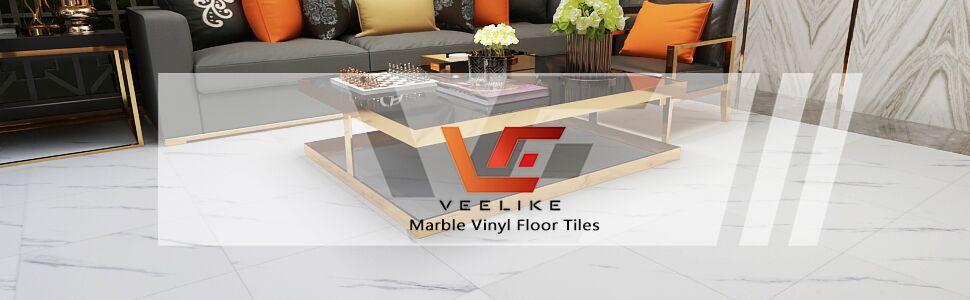veelike peel and stick marble vinyl floor tiles