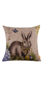 LINKWELL Easter Bunny Pillow Cover