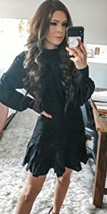 women black mini dress