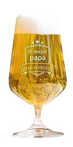 """AMAVEL – Vaso de Whisky con Grabado – """"El Mejor papá del ..."""