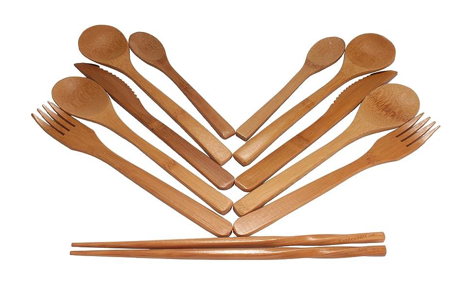 Bamboo utensils all
