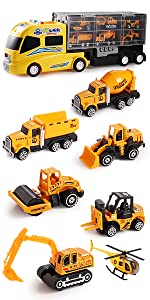 construction vehicle toy play set