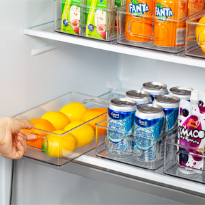 fridge organizer bins