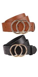 2 pieces womens belts