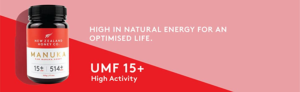 Manuka Honey high in natural energy for an optimised life umf 15 high activity